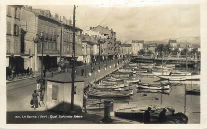 "/ CPSM FRANCE 83 ""La Seyne, quai Saturnin Fabre"""