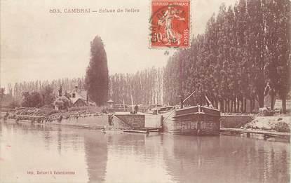 """/ CPA FRANCE 59 """"Cambrai, écluse de Selles"""" / PENICHE"""