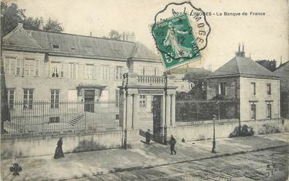 "/ CPA FRANCE 87 ""Limoges, la banque de France"" / BDF"