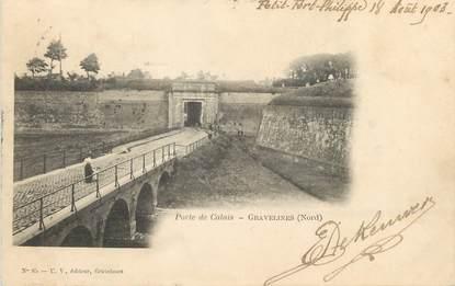 "/ CPA FRANCE 59 ""Gravelines, porte de Calais"""