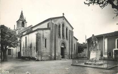 """/ CPSM FRANCE 13 """"Cabannes, l'église et le monument aux morts"""""""