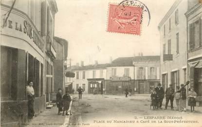 """CPA FRANCE 33 """"Lesparre, Place du Marcadieu"""""""