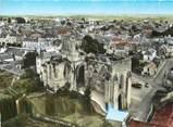 """49 Maine Et Loire / CPSM FRANCE 49 """"Doué La Fontaine, les ruines de l'abbaye Saint Denis"""""""