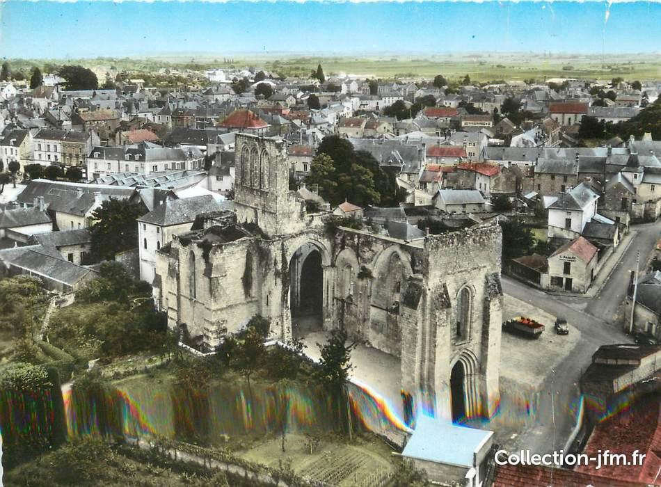 Cpsm france 49 dou la fontaine les ruines de l 39 abbaye - Piscine doue la fontaine ...