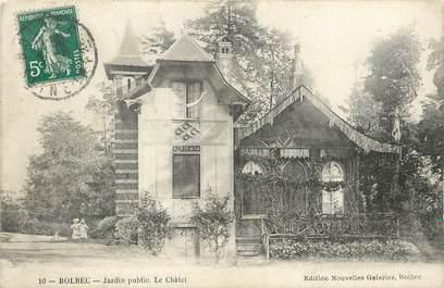 "/ CPA FRANCE 76 ""Bolbec, jardin public, le chalet"""