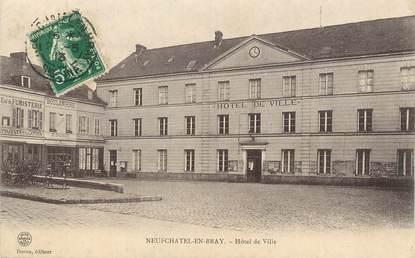 """/ CPA FRANCE 76 """"Neufchâtel en Bray, hôtel de ville"""""""