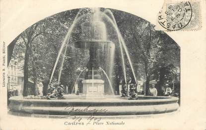 """CPA FRANCE 81 """"Castres,  Place Nationale"""""""