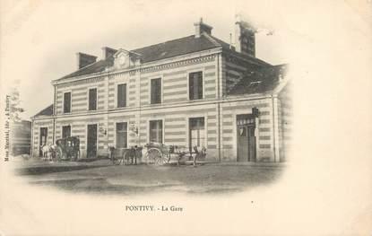 """/ CPA FRANCE 56 """"Pontivy, la gare"""""""