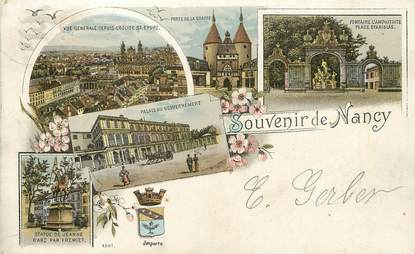 "/ CPA FRANCE 54 ""Souvenir de Nancy 1898"""