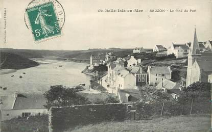 """/ CPA FRANCE 56 """"Belle Isle en Mer, Sauzon, le fond du port"""""""