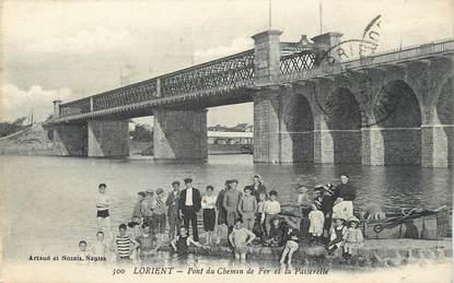 """/ CPA FRANCE 56 """"Lorient, pont du chemin de fer et la Passerelle"""""""