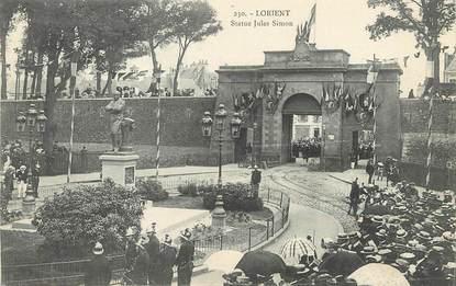 "/ CPA FRANCE 56 ""Lorient, statue Jules Simon"""
