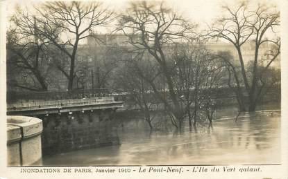 """/ CPA FRANCE 75001 """"Paris, le pont neuf' / INONDATION"""