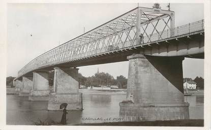 """/ CPSM FRANCE 33 """"Cadillac, le pont"""""""