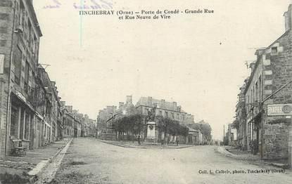 "/ CPA FRANCE 61 ""Tinchebray, porte de Condé, grande rue et rue neuve de Vire"""
