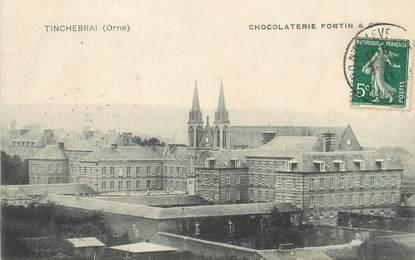 "/ CPA FRANCE 61 ""Tinchebrai, chocolaterie Fortin et Cie"" / CHOCOLAT"