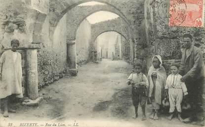 """CPA TUNISIE """"Bizerte, rue du Lion"""""""