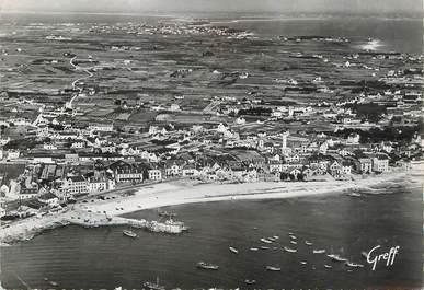 """/ CPSM FRANCE 56 """"Quiberon, vue aérienne de Port Maria vers entre deux Mers"""""""