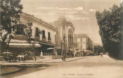 """CPA TUNISIE """"Tunis, casino et théâtre"""""""