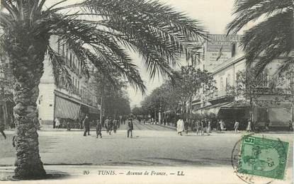 "CPA TUNISIE ""Tunis, avenue de France """