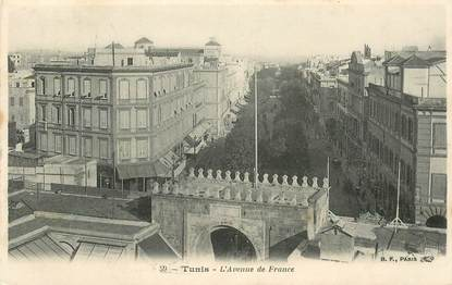 "CPA TUNISIE ""Tunis,  avenue de France"""