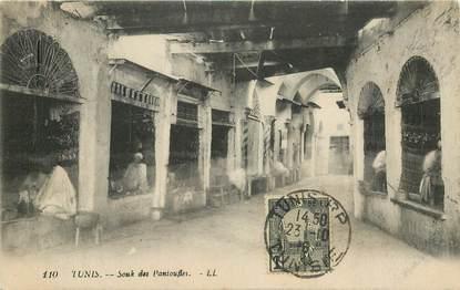 """CPA TUNISIE """"Tunis,  souk des Pantoufles"""""""