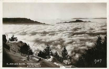 """CPSM FRANCE 73 """"Aix les Bains, mer de nuages prise du Revard"""""""