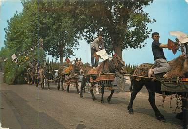 """/ CPSM FRANCE 13 """"Saint Etienne du Gres, charrette de la Sainte Eloi"""" / CHEVAL"""