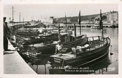 """CPSM FRANCE 13 """"Cassis, bateaux de promenade, le port"""""""