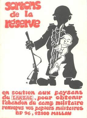 """/ CPSM FRANCE 12 """"Soutien aux paysans du Larsac"""" / POLITIQUE"""
