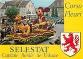 "67 Ba Rhin / CPSM FRANCE 67 ""Selestat, corso Fleuri"""