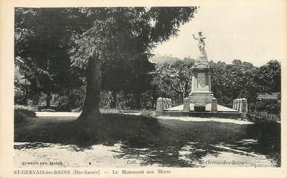 """/ CPA FRANCE 74 """"Saint Gervais les Bains, le monument aux morts"""""""