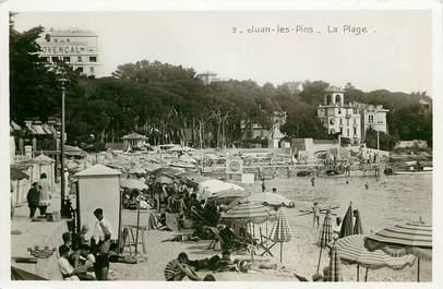 """CPSM FRANCE 06  """"Juan les Pins, la plage"""""""