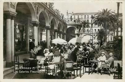 "CPSM  ""Cannes, les galeries fleuries"""