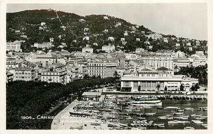 """CPSM   """"Cannes, vue sur le casino et Super Cannes"""""""