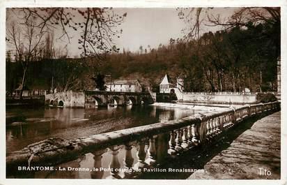 """CPSM FRANCE 24 """"Brantome, La Dronne, le pont Coudé et le pavillon Renaissance"""""""