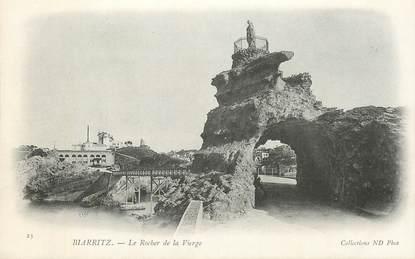 """CPA FRANCE 64 """"Biarritz, vue générale du Rocher de la Vierge  """""""