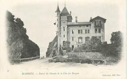 """CPA FRANCE 64 """"Biarritz,  entrée du chemin de la Cote des Basques"""""""