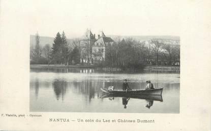 """/ CPA FRANCE 01 """"Nantua, un coin du lac et château Dumont"""""""