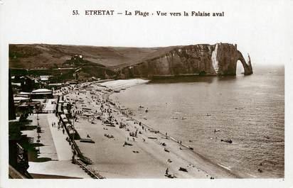 """CPSM FRANCE 76 """"Etretat, vue sur la falaise aval"""""""