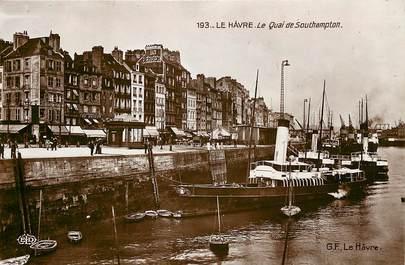 """CPSM FRANCE 76 """"Le Havre, le quai de Southampton"""""""