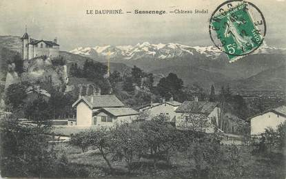 "CPA FRANCE 38 ""Sassenage,  chateau féodal"""