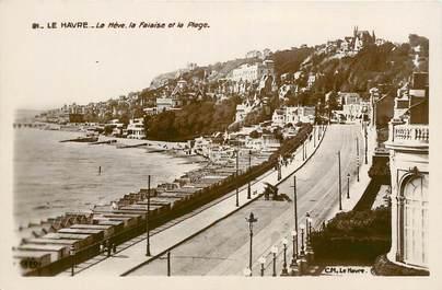"""CPSM FRANCE 76 """"Le Havre, la falaise et la plage"""""""