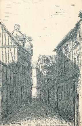 "/ CPA FRANCE 76 ""Rouen, rue de la Grande Mesure"""