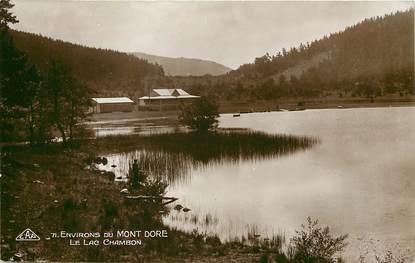 """CPA FRANCE 63 """"Env. le Mont Dore, le Lac Chambon"""""""