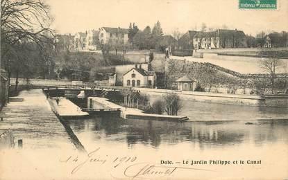 "CPA FRANCE 39 ""Dole, Le Jardin Philippe et le canal"""