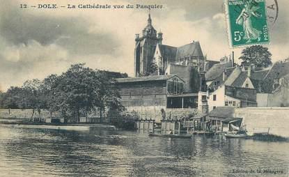 """CPA FRANCE 39 """"Dole, la cathédrale vue du Pasquier"""""""