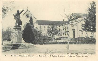 """CPA FRANCE 39 """"Lons le Saunier, le séminaire et le palais de Justice"""""""