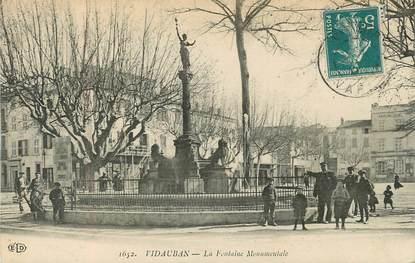 "CPA FRANCE 83 ""Vidauban, la Fontaine Monumentale"""