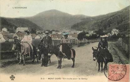 """CPA FRANCE 63 """"Le Mont Dore, en route pour le Sancy"""" / ANE"""